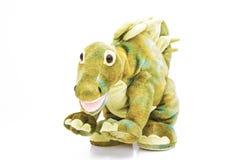 Los dinosaurios del tiranosaurio juegan aislado en el fondo blanco con la trayectoria de recortes fotografía de archivo libre de regalías