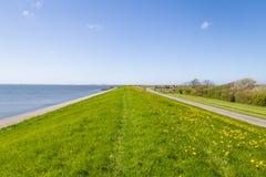 Los diques de Texel Países Bajos foto de archivo