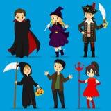 Los disfraces de Halloween Vector el sistema libre illustration