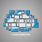 Los dispositivos computacionales estilizados de la nube diseñan imágenes de archivo libres de regalías