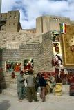 Los distribuidores autorizados kurdos tradicionales de la alfombra imágenes de archivo libres de regalías
