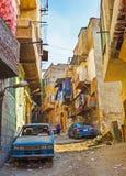 Los distritos pobres de El Cairo Imágenes de archivo libres de regalías