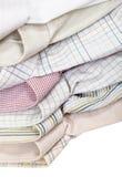 Los diversos cuellos de las camisas se cierran encima de aislado Fotografía de archivo libre de regalías