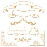 Los divisores ornamentales fijaron el fondo foto de archivo libre de regalías