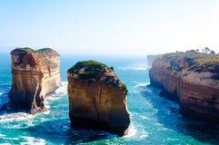 Los doce apóstoles por el gran camino en Victoria, Australia del océano Fotos de archivo