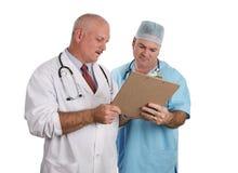 Los doctores Confer Together Foto de archivo libre de regalías