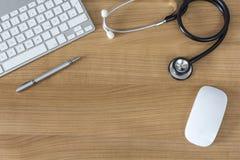 Los doctores Desk Fotos de archivo libres de regalías