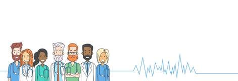 Los doctores intermedios Heart Rate Pulse Team del grupo Fotos de archivo