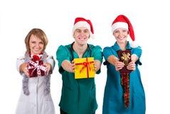 Los doctores la Christmas Foto de archivo libre de regalías
