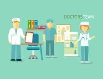 Los doctores Team People Group Flat Style stock de ilustración