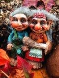 Los duendes en el bosque, setas, otoño Foto de archivo libre de regalías