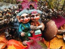 Los duendes en el bosque, setas, otoño Imagen de archivo