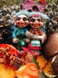 Los duendes en el bosque, setas, otoño Imagenes de archivo
