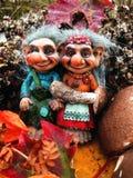 Los duendes en el bosque, setas, otoño Imagen de archivo libre de regalías
