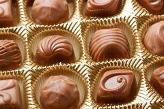 Los dulces del chocolate se cierran para arriba Fotos de archivo