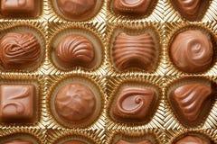 Los dulces del chocolate se cierran para arriba Imagen de archivo libre de regalías