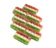 Los dulces del este tres-colorearon los dulces del caramelo de la fruta Fotos de archivo libres de regalías