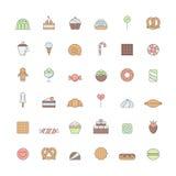 Los dulces resumen el sistema grande coloreado del vector del icono Diseño simple Fotografía de archivo libre de regalías