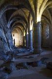 Los Dungeon de Chateau de Chillon Foto de archivo libre de regalías