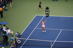 Los E.E.U.U. abra el tenis - Maria Sharapova Imagen de archivo
