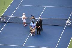 Los E.E.U.U. Abra el tenis - retiro de Andrés Roddick Imagenes de archivo