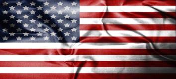 Los E.E.U.U., América, materia textil patriótica unida del fondo nacional del país del símbolo de la bandera Fotografía de archivo
