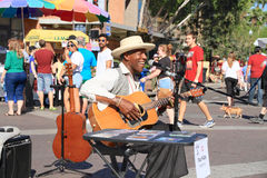 Los E.E.U.U., AZ/Tempe: Cantante/guitarrista Paul Miles Fotos de archivo libres de regalías