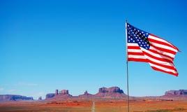Los E.E.U.U., bandera fotografía de archivo
