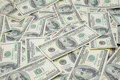 Los E.E.U.U. cientos cuentas de dólar Imagen de archivo libre de regalías