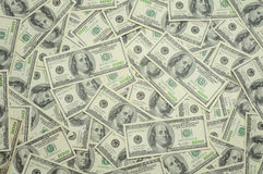 Los E.E.U.U. cientos fondos de las cuentas de dólar Imágenes de archivo libres de regalías