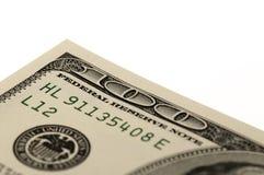 Los E.E.U.U. cientos macros de Bill de dólar Fotografía de archivo libre de regalías