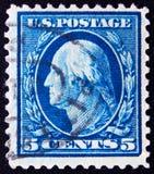 Los E.E.U.U. circa 5 centavos 1911 Imagenes de archivo