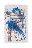 Los E.E.U.U. - CIRCA los años 50: Un sello imprimió en los pájaros que mostraban, círculo Imagenes de archivo