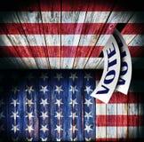 Los E.E.U.U., diseño de concepto de votación Foto de archivo