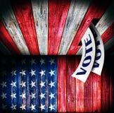 Los E.E.U.U., diseño de concepto de votación Imagen de archivo libre de regalías