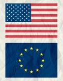 Los E.E.U.U. e indicador euro, vector Fotografía de archivo libre de regalías