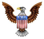 Los E.E.U.U. Eagle Shield Design Imagenes de archivo