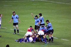 Los E.E.U.U. Eagles contra juego de rugbi nacional de Uruguay Fotografía de archivo libre de regalías