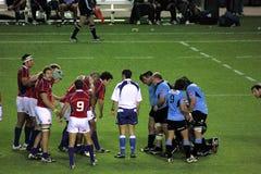 Los E.E.U.U. Eagles contra juego de rugbi nacional de Uruguay Imágenes de archivo libres de regalías
