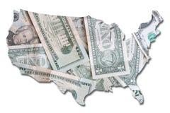 Los E.E.U.U. en cuentas de dólar Imagenes de archivo