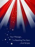 Los E.E.U.U. labraron resplandor solar Imágenes de archivo libres de regalías
