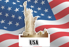 Los E.E.U.U., los Estados Unidos de América, ilustración Imagen de archivo libre de regalías