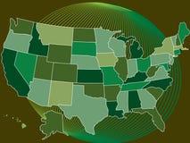 Los E.E.U.U. MapVector Imágenes de archivo libres de regalías