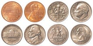 Los E.E.U.U. que circulan monedas foto de archivo
