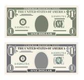 Los E.E.U.U. que depositan la moneda, billete de dólar del símbolo 1 del efectivo Fotografía de archivo libre de regalías