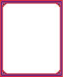 Los E.E.U.U. señalan el marco por medio de una bandera estilizado Fotos de archivo libres de regalías