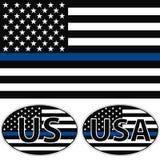 Los E.E.U.U. señalan la raya por medio de una bandera azul Fotografía de archivo