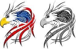 Los E.E.U.U. señalan por medio de una bandera en el águila incorporada Fotos de archivo