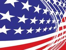 Los E.E.U.U. señalan por medio de una bandera en estilo Foto de archivo libre de regalías