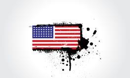 Los E.E.U.U. señalan por medio de una bandera en estilo Imagenes de archivo
